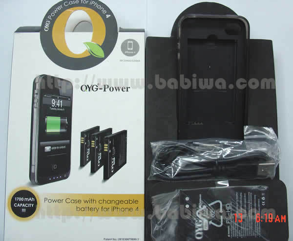 Genuine QYG QB1700 FC13 Portable Power Case for apple iphone 4 4s changeable battery and bumper MFI Certificated Product