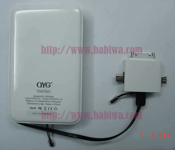 Genuine QYG Luxury Portable 6000 MAH Powerbank for Universal Mobile phone,digital products
