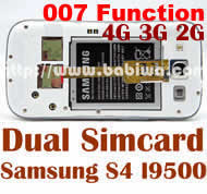 Babiwa Product ID:BW-S4L-05K - Dual Sim Card Adapter for Samsung Galaxy S4 SIIII SIV I9500 I9505 I950x with 007 Function