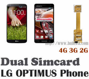(2 Simcard for LG G & LG V & LG Optimus series phone Micro-simcard version) Dual Sim Card Adapter for LG G series,LG V series and LG OPTIMUS Series Mobilephone,Two Simcards Holder, Support Universal Network-- FDD-LTE 4G HSDPA HSPA 3.5G WCDMA 3G GSM 2G