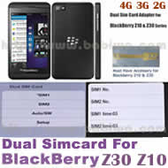 2 simcard for blackberry z10 z30 dual sim card adapter for blackberry bb z10 and z30 series. Black Bedroom Furniture Sets. Home Design Ideas