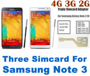 BW-N3M-5H:Triple Sim adapter for Samsung Galaxy Note 3