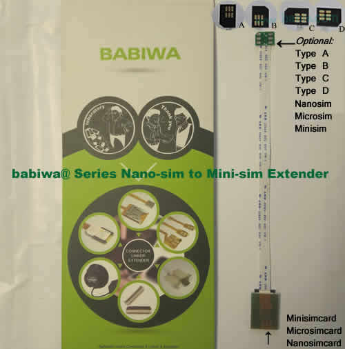 babiwa@ series universal simcard(minisim,nanosim,microsim) extension cable for mobilephone.universally standarded Device for Online Marketing and Bulk Advertising as batch sms message delivery ,batch text message receiving,bulk call sms marketing,other bulk mobilephone advertising etc.International shipping.