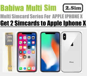 (2 Simcard for Apple Iphone X) Genuine Apple Iphone X Dual Sim Card Adapter ,Specially Molded Nano-Sim Tray(easy installation).Must-have Accessory for Apple Iphone X ,also known as Apple Iphone Ten,Iphone 10,Apple A1865,Apple A1901 etc (Free Shipping worldwidely via registered airmail thru post office)