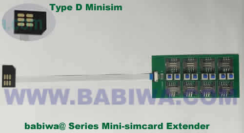 Babiwa@ No.YB-32D Universal Micro-simcard to External 8x Minisimcard(microsimcard,nanosimcard) Extension Cable.Support Any devices (brands,models) using Micro simcard in Type D Bevel Direction.Support Extending to Most Up to 8x External Simcards. also called Micro-simcard to 8 simcards Extension Cable, 8 simcards Linker to Micro Simcard Tray, Micro Simcard Connector Extender to 8 sim.Universal Micro Simcard Jack Extension Cable to Multi Simcards
