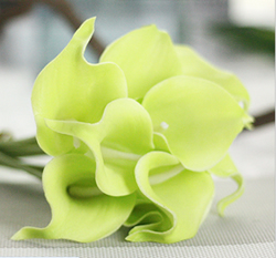 Calla Lily Bridal Wedding Bouquet , Tender green. Material: Latex . A bunch(includes 10 heads.Babiwa online store since 2002 ,free shipping to worldwide area) .
