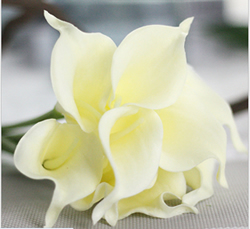 Calla Lily Bridal Wedding Bouquet , Milk White. Material: Latex . A bunch(includes 10 heads). Babiwa online store since 2002 ,free shipping to worldwide area) .
