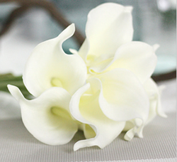 Calla Lily Bridal Wedding Bouquet , Pure White. Material: Latex . A bunch(includes 10 heads). Babiwa online store since 2002 ,free shipping to worldwide area) .