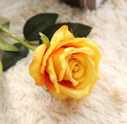Rose , Artificial Flower, Orange Yellow. Material: Velvet . A bunch(includes 10 heads.Babiwa online store since 2002 ,free shipping to worldwide area) .