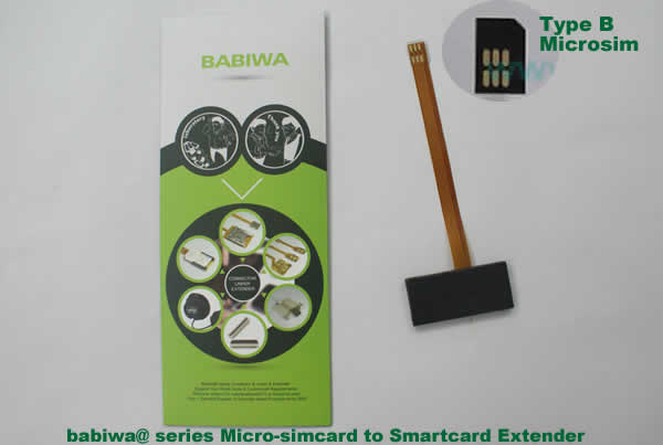 Babiwa@ No.3M Universal Micro-simcard to Smartcard(Big-simcard) Extension Cable.Support Any devices (brands,models) using Micro simcard in Type B Bevel Direction.also called Smartcard tester on Micro-simcard holder, Micro Simcard to Smartcard Extension Cable, Micro Simcard to Smartcard Extender, Micro Simcard Connector to Smartcard Extender .Universal Micro Simcard Jack to Smartcard Linker,Extender of Micro Simcard Slot to Bigcard,Linker of Micro Simcard Socket to Smartcard Holder,Extender for M