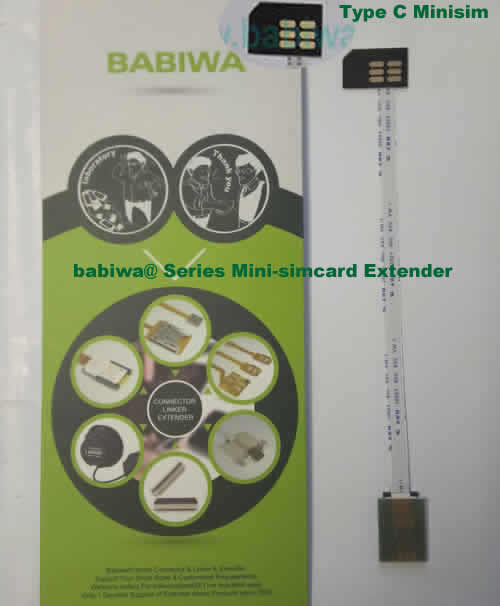 Babiwa@ No.32C Universal Mini-simcard to Minisimcard (microsimcard,nanosimcard) Extension Cable.Support Any devices (brands,models) using Mini simcard in Type C Bevel Direction.also called Mini Simcard Extension Cable,Mini Simcard Linker,Mini Simcard Connector Extender.Universal Mini Simcard Jack Extension Cable,Extender of Mini Simcard Slot,Linker of Mini Simcard Socket,Extender for Mini Simcard Holder.(Free Shipping via Trackable Registered Airmail to Worldwide Area WWW.BABIWA.COM)