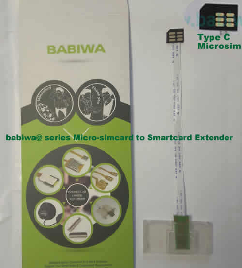 Babiwa@ No.34C Universal Micro-simcard to Smartcard(Big-simcard) Extension Cable.Support Any devices (brands,models) using Micro simcard in Type C Bevel Direction.also called Smartcard tester on Micro-simcard holder, Micro Simcard to Smartcard Extension Cable, Micro Simcard to Smartcard Extender, Micro Simcard Connector to Smartcard Extender .Universal Micro Simcard Jack to Smartcard Linker,Extender of Micro Simcard Slot to Bigcard,Linker of Micro Simcard Socket to Smartcard Holder,Extender for
