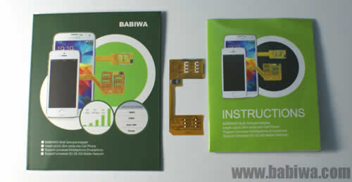 Genuine Babiwa Series Dual Sim Card Adapter for Samsung Smartphone 3G WCDMA HSDPA UMTS Mobile Phone Galaxy S3 MINI I8190 ,Galaxy S2 SII I9100,Galaxy S,Galaxy NOTE I717 I9220,Galaxy Nexus Exhibit Mini S5620 Monte Infuse S Blaze TAB Ace