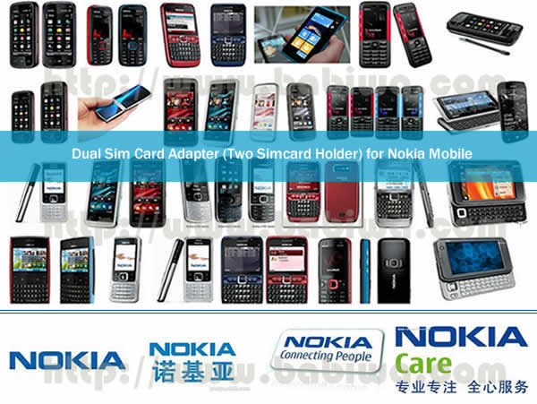 BW-3CL-Nokia  Genuine BABIWA© magicsim series Dual Sim Card Adapter for Nokia Mobile phone