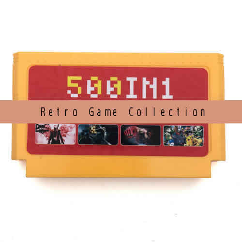 Multi gamecard. Multi 500 retro games in 1 Game cartridge.Compatible with FC NES Console.International Wholesale and Shipping.
