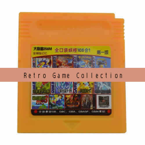 Multi game card.108 retro games in 1 game cartridge.Compatible with GBC ,GAMEBOY Color Console.International Wholesale and Shipping.