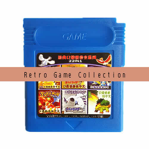 Multi game card. retro games in 1 game cartridge.Compatible with GBC ,GAMEBOY Color Console.OPTIONAL:22in1,93in1,116in1 .International Wholesale and Shipping.