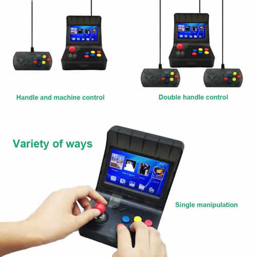 Portable Retro Arcade Game Console ,3000+ Games.AV Output Compatible with universally standarded TV. embedded emulator supports downloaded games Arcade CP1 / CP2 + GBA + SFC + GBC + GB + MD + NES etc.Music player and Picture viewer.International Shipping.Retail and Wholesale(bulkorder) Supported.