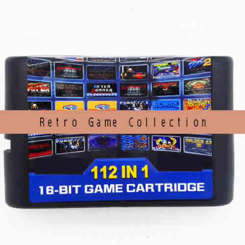 Multi gamecard. 112 retro 16-bit games in 1 Game cartridge.Compatible with SEGA MD or SEGA MEGA DRIVE console etc.International Wholesale and Shipping.