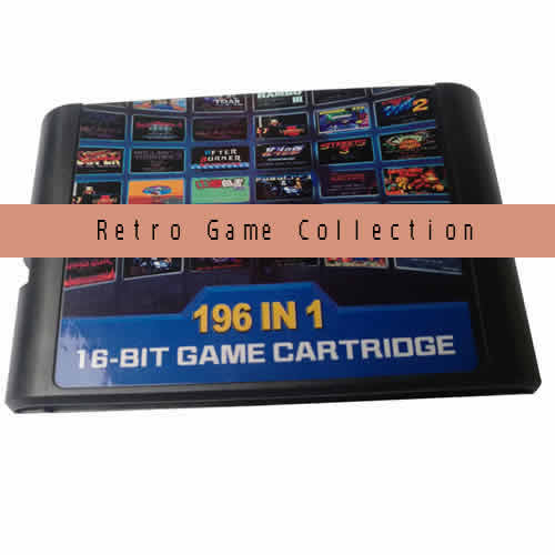 Multi gamecard. 196 retro 16-bit games in 1 Game cartridge.Compatible with SEGA MD or SEGA MEGA DRIVE console etc.International Wholesale and Shipping.