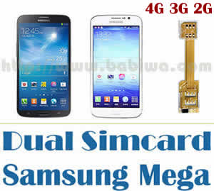 BW-N2M-02A  - Dual Sim Card Adapter for Samsung Galaxy Mega 6.3 ,Mega 5.8 ,I9200,I9150,I9152,SGH-I527 etc