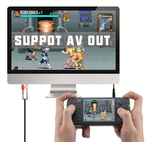 Classic Portable Game Console including over 1151 builtin games . Portable Mini Entertainment .Also support output through AV(audio/video) cable to TV. Compatible with worldwide area standards.