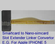 Linker Type 3-Z Universal Big Card (Smartcard) Extender to Nano-simcard ,Strengthened Version. The Transfer Unit from BIG CARD (Smartcard) to Nano-Simcard Slot Tray as Apple Iphone 5(Free Shipping via Trackable Registered Airmail to Worldwide Area)