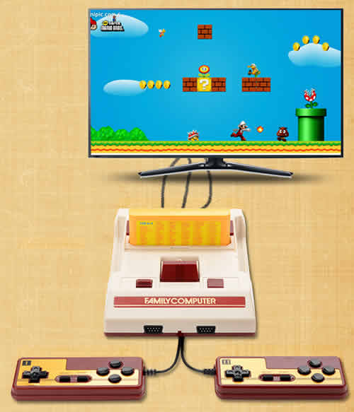 Classic Home Retro Game Console ,Total over 500+ Games (including bulit-in games and cartridge games). Game Cartridge supported. AV Output Compatible with universally standarded TV.