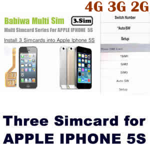Triple Sim Card Adapter for Apple IPHONE 5S BW-MGL-5S