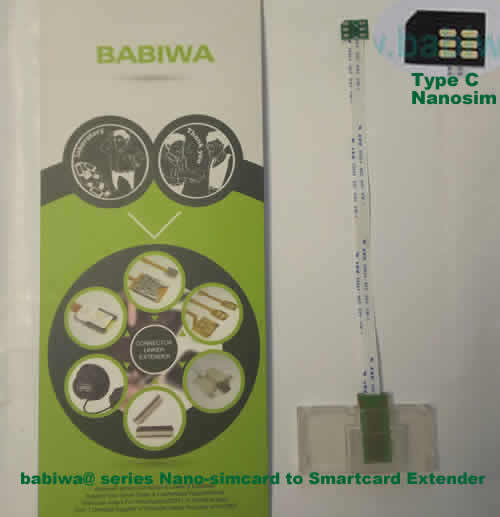 Babiwa@ No.33C Universal Nano-simcard to Smartcard(Big-simcard) Extension Cable