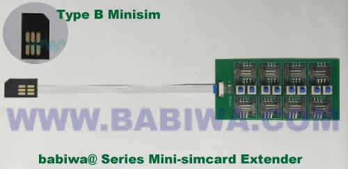 Babiwa@ No.YB-32B Universal Micro-simcard to External 8x Minisimcard(microsimcard,nanosimcard) Extension Cable.Support Any devices (brands,models) using Micro simcard in Type B Bevel Direction.Support Extending to Most Up to 8x External Simcards. also called Micro-simcard to 8 simcards Extension Cable, 8 simcards Linker to Micro Simcard Tray, Micro Simcard Connector Extender to 8 sim.Universal Micro Simcard Jack Extension Cable to Multi Simcards