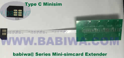 Babiwa@ No.YB-32C Universal Micro-simcard to External 8x Minisimcard(microsimcard,nanosimcard) Extension Cable.Support Any devices (brands,models) using Micro simcard in Type C Bevel Direction.Support Extending to Most Up to 8x External Simcards. also called Micro-simcard to 8 simcards Extension Cable, 8 simcards Linker to Micro Simcard Tray, Micro Simcard Connector Extender to 8 sim.Universal Micro Simcard Jack Extension Cable to Multi Simcards