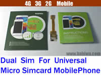 BW-3GL-MicroSim (Non-Cutting Dual Simcard Adapter for Universal MobilePhone using Small Micro Simcard) Newest BABIWA Q-Series Non-Cutting Dual Sim Card Adapter for Universal Mobile Phone,Support 4G LTE 3G UMTS HSDPA WCDMA 2G GSM Edge GPRS ,Support BlackBerry HTC Huawei Lenovo LG Meizu Motorola NEC Nokia Samsung Sony Sony Ericsson Xiaomi ZTE...
