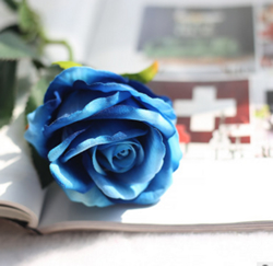 Rose , Artificial Flower, BLUE. Material: Velvet . A bunch(includes 10 heads.Babiwa online store since 2002 ,free shipping to worldwide area) .
