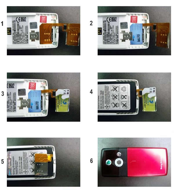 Dual sim adapter for universal gsm mobile phones